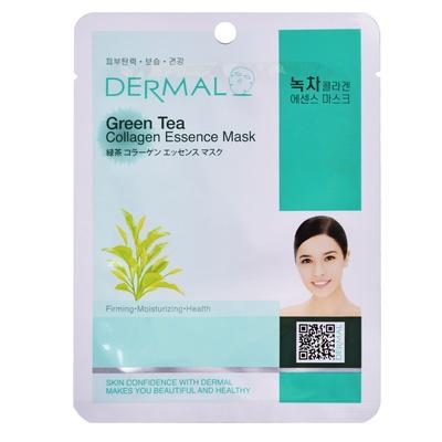 Korejska sheet maska za zatezanje kože lica DERMAL Collagen Essence Green Tea 23g
