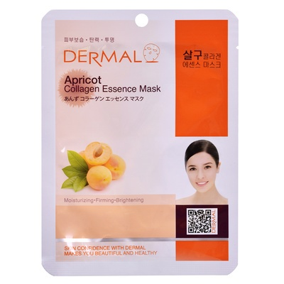 Korean Sheet Firming Mask DERMAL Collagen Essence Apricot 23g