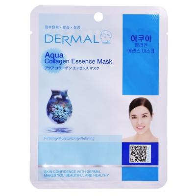 Korejska sheet maska za hidrataciju i osvežen izgled kože lica DERMAL Collagen Essence Aqua 23g