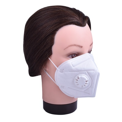 Three layers protective face mask with valve 1/1