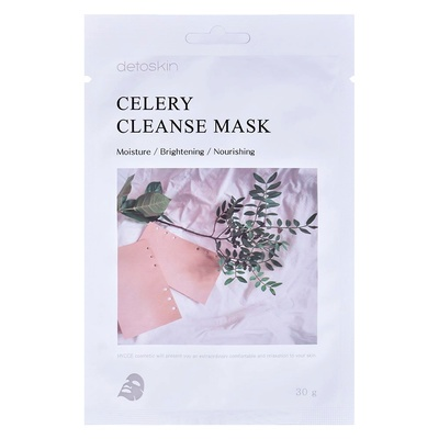 Nourishing Korean Sheet Facial Cleanse Mask DETOSKIN Celery 30g