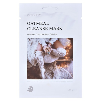 Korean Sheet Facial Cleanse Mask DETOSKIN Oatmeal 30g