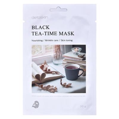 Korejska sheet maska za suvu kožu lica Crni čaj DETOSKIN Tea-Time 30g