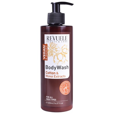 Body Wash Cotton and Monoi Extracts REVUELE Vegan & Balance 400ml