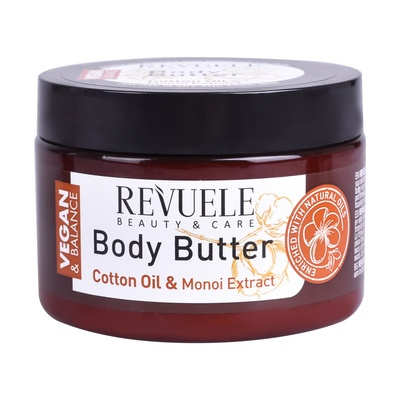 Body Butter Cotton Oil and Monoi Extract REVUELE Vegan & Balance 360ml