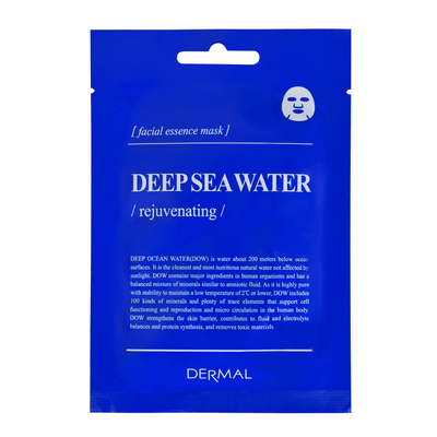 Korean Rejuvenating Facial Essence Mask DERMAL Encyclopedia Deep Sea Water 25g