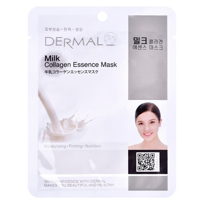 Korean Sheet Firming Mask DERMAL Collagen Essence Milk 23g
