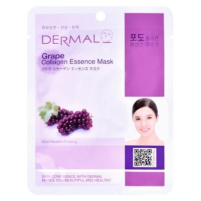 Korean Sheet Firming Mask DERMAL Collagen Essence  Grape 23g