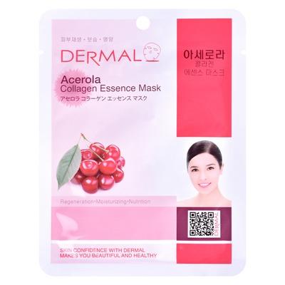 Korejska sheet maska za regeneraciju kože lica DERMAL Collagen Essence Acerola 23g