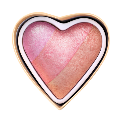 Blusher I HEART REVOLUTION Blushing Hearts Peachy Pink Kisses 10g