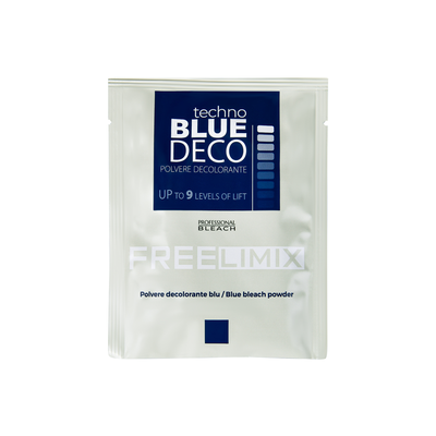 Blue Bleaching Powder for Intense Hair Lightening FREE LIMIX 30gr