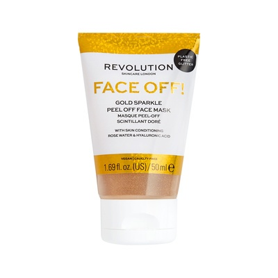 Glitter Peel-Off Face Mask REVOLUTION SKINCARE Gold Sparkle 50ml