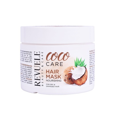 Hranljiva maska za suvu i oštećenu kosu sa ekstraktom kokosa REVUELE Coco Care 300ml