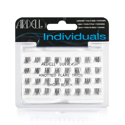 Individual Lashes Knotted Flare Trios ARDELL Short Black