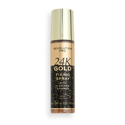 Fixing Spray with a Golden Shimmer REVOLUTION PRO 24k Gold 100ml