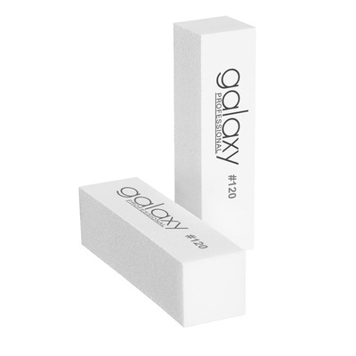 Block Nail File GALAXY White 120#