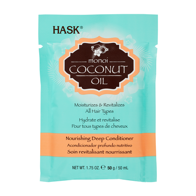 Nourishing Deep Hair Conditioner Free Of sulfates HASK HASK Monoi Coconut Oil 50ml