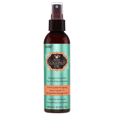 Detangles & Nourishes Free of Sulfates 5in1 Leave-In Spray HASK Monoi Coconut Oil 175ml