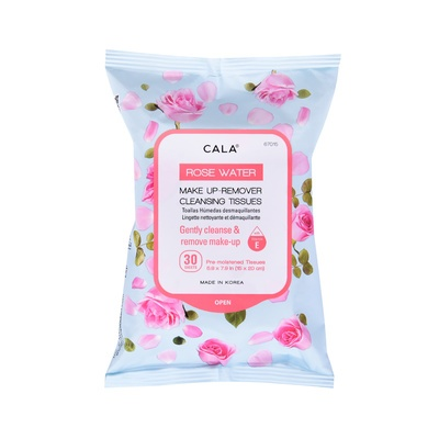 Make-up Remover Cleansing Tissues CALA Rose Water 67015 30/1