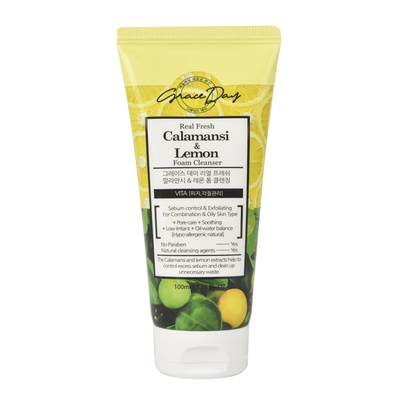 Foam Cleanser for Combination & Oily Skin GRACE DAY Calamansi & Lemon 100ml