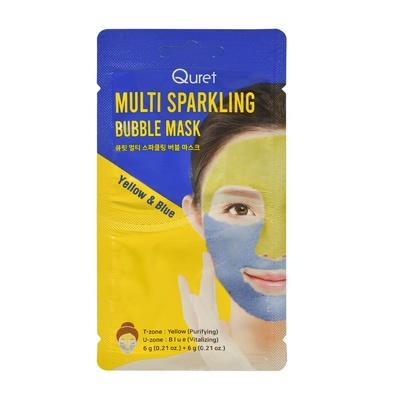 Maska za čišćenje i revitalizaciju lica QURET Multi Sparkling Bubble 2x6g