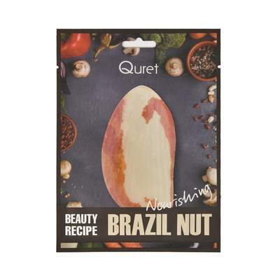 Hranljiva korejska sheet maska QURET Beauty Recipe Brazilski orah 25g
