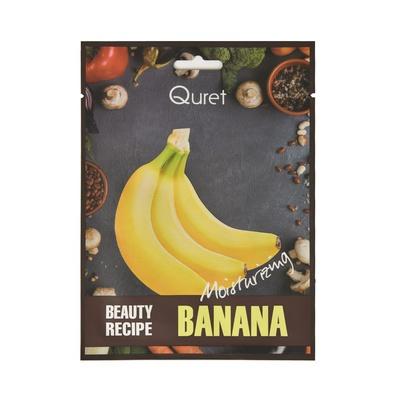 Korejska sheet maska za hidrataciju i elastičnost kože lica QURET Beauty Recipe Banana 25g