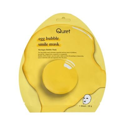 Korejska penušava sheet maska za hidrataciju suve kože lica QURET Egg Bubble 28g