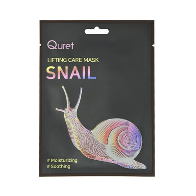 Moisturizing and Soothing Korean Face Mask QURET Lifting Care Snail 25g