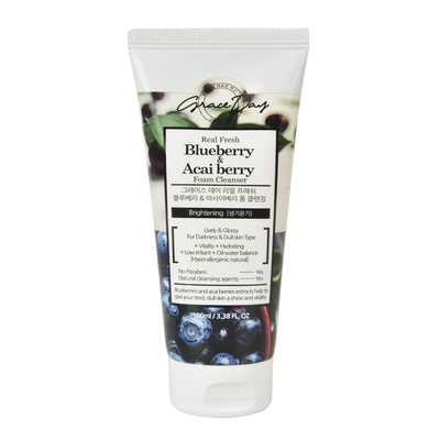 Foam Cleanser for Darkness & Dull Skin Type GRACE DAY Blueberry & Acai Berry 100ml
