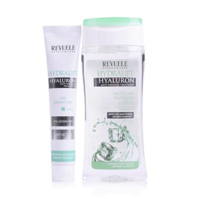 Poklon set za ublažavanje bora i hidrataciju lica REVUELE Hydralift Hyaluron