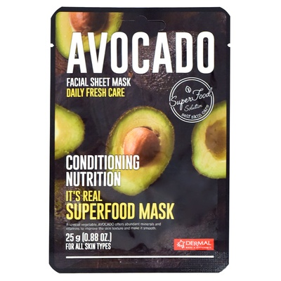 Korean Sheet Conditioning Mask DERMAL Superfood Avocado 25g