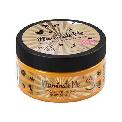 Illuminate Me Smoothing Sugar Body Scrub 7DAYS Miss Crazy Mango 220g