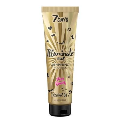 Shimmering Body Milk 7DAYS Coconut Oil Miss Crazy 150ml