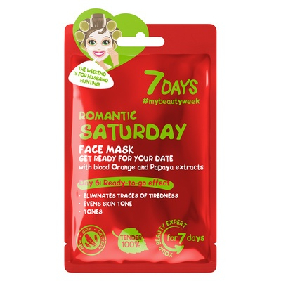 Sheet maska za ujednačavanje tena 7DAYS My Beauty Week Romantic Saturday 28g