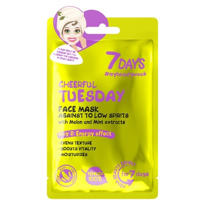 Sheet maska za zatezanje i vitalnost kože lica 7DAYS My Beauty Week Cheerful Tuesday 28g
