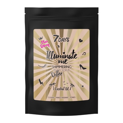 Svetlucavi piling za telo 7DAYS Miss Crazy Coffee 200g