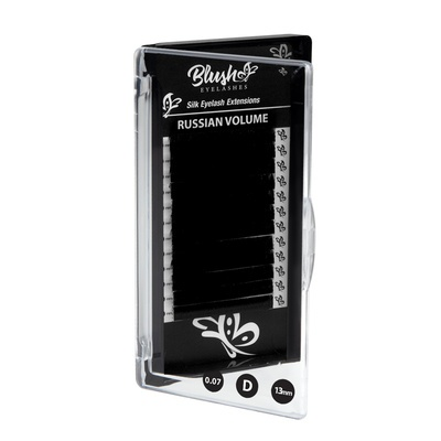 Svilene trepavice za Ruski volumen BLUSH D-Kriva 13mm
