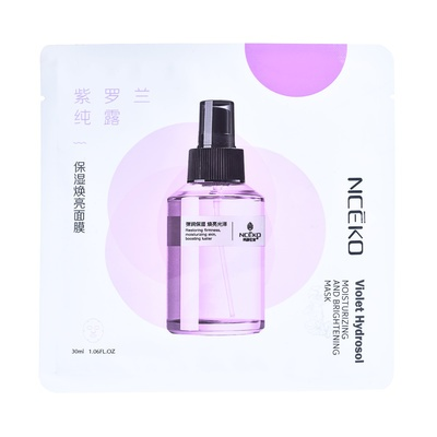 Chinese Moisturizing and Brightening Sheet Mask NCEKO Violet Hydrosol 30ml