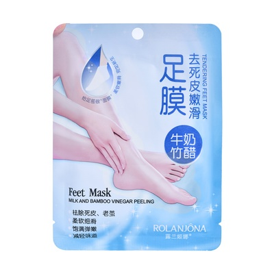 Feet Mask Peeling ROLANJONA Milk and Bamboo Vinegar 2pcs