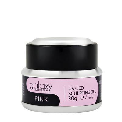 Gradivni gel za nadogradnju noktiju GALAXY LED/UV Pink 30g