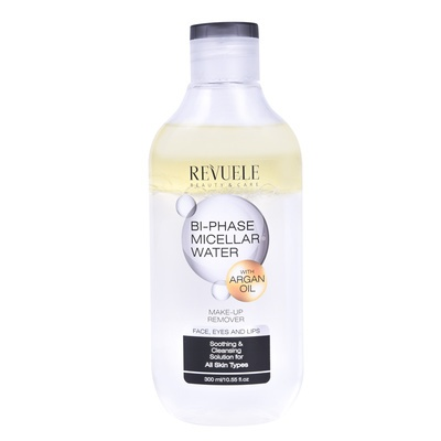 Bi-Phase Micellar Water Makeup Remover REVUELE Argan Oil 300ml