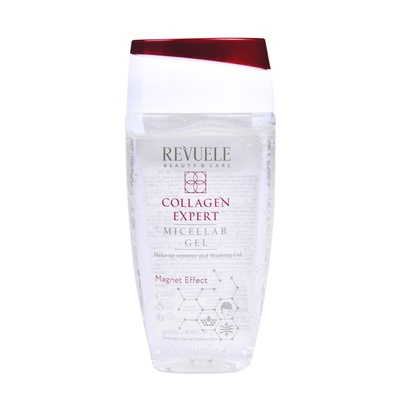 Micellar Gel for Makeup Remover and Washing Face REVUELE Collagen Expert 150ml