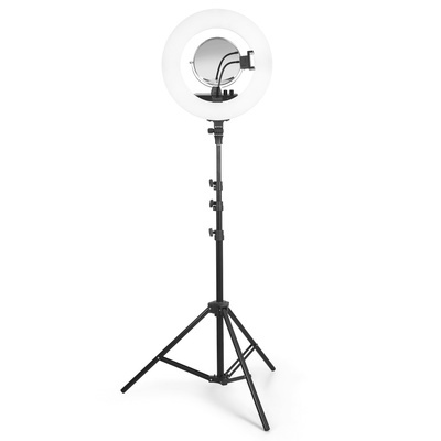 Ring Light Photo LED Lighting with Adjustable Tripod and Remote Control JB-3008-Pink