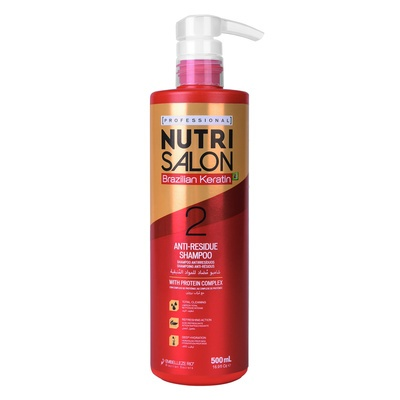 Anti-Residue Shampoo with Protein Complex NUTRISALON Brazilian Keratin 500ml