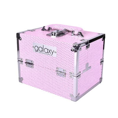 Makeup, Cosmetics and Tool Case GALAXY Pink Glitter 1286