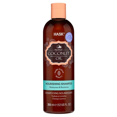 Nourishing Shampoo Sulfate Free HASK Monoi Coconut Oil 355ml