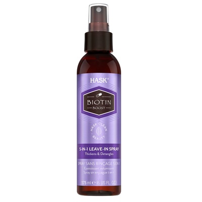 Thickens & Detangles Free of Sulfates 5in1 Leave-in Spray HASK Biotin Boost 175ml
