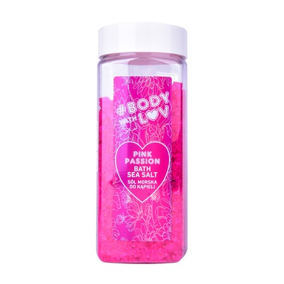 Bath Sea Salt BODY WITH LUV Pink Passion 500g