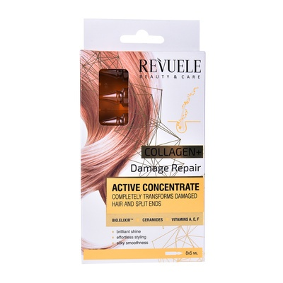 Active Concentrate for Damage Hair REVUELE Collagen 8x5ml